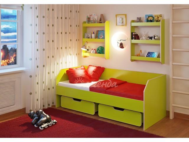 Детская кровать от 3 лет Легенда 13.1 с полками
